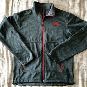 The North Face Mens Black and Red Zip Jacket Small